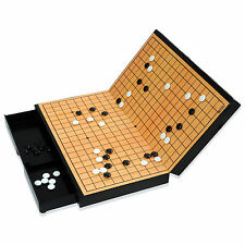 MYUNGINLAND Magnetic Go Board Game WeiQi Baduk Piece Stones Portable Foldable