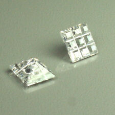 2 pieces perfect white Loose Cubic Zirconia Square Invisible AAA quality 7x7mm