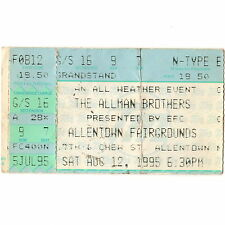 ALLMAN BROTHERS & RUSTED ROOT Concert Ticket Stub ALLENTOWN 8/12/95 FAIRGROUNDS
