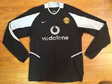 2002/04 Nike Manchester United Jersey Soccer Football Shirt L/S