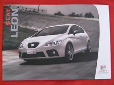 Seat Leon Brochure Issue 12/2007 - ( Reference, Sport, Stylance, FR & Cupra )