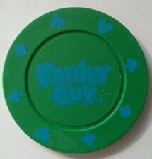 FAMILY GUY TELEVISION CARTOON SHOW GREEN ADVERTISING POKER CHIP!
