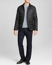 Armani Collezioni Black Microfiber Quilted Puffer Jacket Size L 100% Authentic