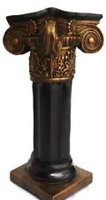 "Black Bronze color 15"" Ionic Column Pedestal Statue Sculpture Home Decor"