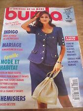 MAGAZINE BURDA MARIAGE ROMANTISME EN BLANC CHEMISIERS 5 SUCCES DE L'ETE 1994