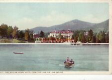 """FORT WILLIAM HENRY HOTEL FROM THE LAKE, ON LAKE GEORGE """"Phostint"""" Detroit Publ"""