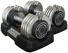 Bayou Fitness 10-50 lb Adjustable Dumbbells Set Pair of 2 Weight Exercise NEW