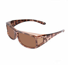 OVER GLASSES SUNGLASSES That Fit Over Spectacles: Womens Polarised Tortoiseshell