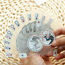 PVC Waterproof Invisible Playing Cards Modern Design Plastic Playing Poker Cards