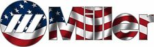 MILLER WELDER AMERICAN FLAG DECAL STICKER - SET OF 2