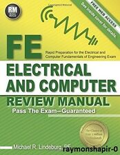 FE Electrical and Computer Review Manual by Michael R. Lindeburg PE 1591264499