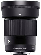 Sigma 30mm F1.4 DC DN Lens for Sony E-mount cameras