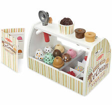 Melissa & Doug 20 Piece Scoop and Serve Ice Cream Counter Set