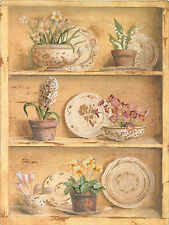 Cross Stitch Kit ~ Candamar Porcelain Plate Potted Flower Shelves #51433