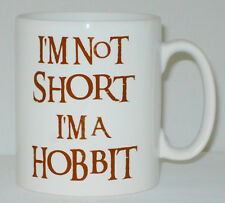 I'm Not Short A I'm A Hobbit Mug Can Be Personalised Funny LOTR Tolkein Parody