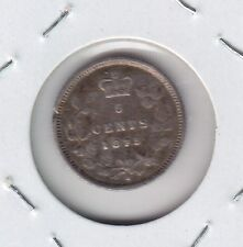 1875 H Canada Five Cents Silver Small Date - VG