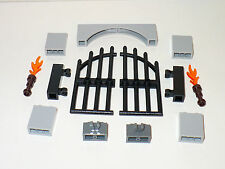 NEW LEGO Castle kingdom potter Black iron gate grotto fence archway entrance RPG
