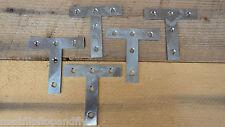 """10 x 3"""" 75mm  BZP BRIGHT ZINC PLATED FLAT TEE REPAIR PLATE BRACKETS BRACE JOINT"""