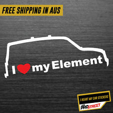 I HEART MY ELEMENT JDM CAR STICKER DECAL Drift Turbo Euro Fast Vinyl #0349