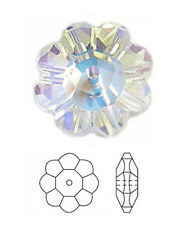 1 SWAROVSKI DAISY MARGUERITE LOCHROSE FLOWER SPACER BEAD 3700, CRYSTAL AB, 12 MM
