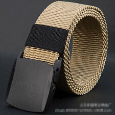 New Fashion Woman Men Khaki Outdoor Sports Military Tactical Smooth Buckle Belt
