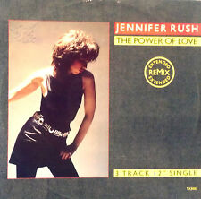 "JENNIFER RUSH  12"" SINGLE THE POWER OF LOVE MADE IN ENGLAND 1985"