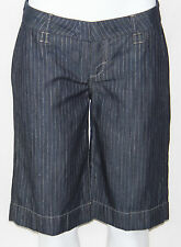 NEW Divine Rights of Denim Metallic Stripe Walking Shorts GOLD/BLUE/SIZE 27