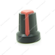 10 x Potentiometer Pot Knob Black With Red Pointer for 6mm Splined Shaft Volume