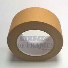 1 x 50mm 50M self adhésif support bande de papier photo encadrement toile craft brown