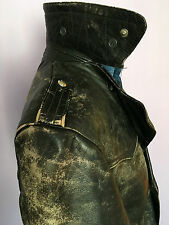 HORSEHIDE LEATHER INDIANA SPORTSWEAR DATED 1964  MOTORCYCLE  COAT MED