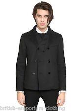 ICEBERG Noir DB Léger Manteau pois fabriqué en italie entièrement neuf sans étiquette ita46-uk36 (petite)