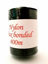 NYLON WAX BONDED WEAVING THREAD 'BLACK' 400m