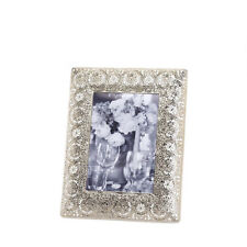 "exotic SILVER french Moroccan lace Medallion shabby 5"" x 7"" photo Picture Frame"