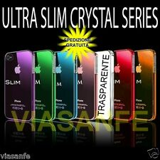 Cover Custodia Case Bumper Per iPhone 4S 4 Trasparente Crystal Rigida Ultra Slim