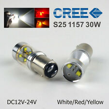 2Pcs White 1157 30W BAY15D P21/5W CREE XBD Car LED Brake Turn Signal Lights Bulb