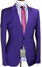 BNWT MENS PAUL SMITH PS LONDON DEEP PURPLE CHECK TAILOR-MADE FITTED SUIT 44R W38