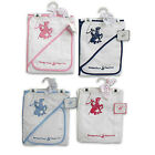 BEVERLY HILLS POLO CLUB BABY INFANT HOODED TOWEL & WASHCLOTH GIFT SET BOYS-GIRLS