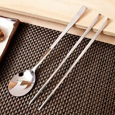 Korean Stainless Steel Spoon and Chopsticks Set Iljin Cookware - Turtle Pattern