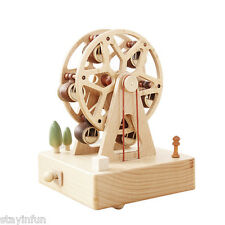 Rotatable Ferris Wheel Wooden Music Box Toy Decoration Christmas Gift for Kids