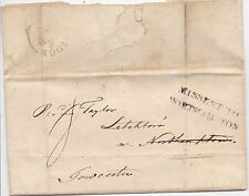 * 1829 CAMBRIDGE LETTER TO REV. TAYLOR AT TOWCESTER H/S MISSENT TO NORTHAMPTON
