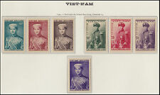 VIETNAM EMPIRE N°22/28** Prince Bao-Long, 1954 South Vietnam Sc#20-26 MNH