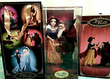 DISNEY FAIRYTALE DESIGNER SNOW WHITE & HAG DOLLS HEROES VR VILLAINS LE LIMITED