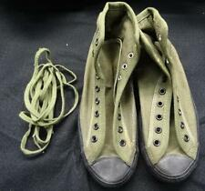 WW2 W.A.C. CANVAS O.D. TENNIS / EXERCISE  OR JUNGLE SHOES - 1945 - SZ 5 - #EQ584