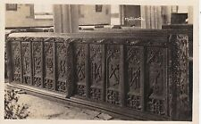 Oak Carved Pews Inside Church, MULLION, Cornwall RP