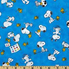 "Peanuts-Project Linus Snoopy & Woodstock Toss 100% cotton 44"" fabric by the yard"