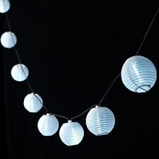 10PC SOLAR POWERED WHITE CHINESE LANTERN STRING LIGHTS ,GARDEN LIGHTS FOR PATIO