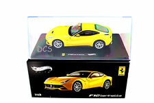 FERRARI F12 BERLINETTA YELLOW HOT WHEELS ELITE 1/43 DIECAST CAR X5500