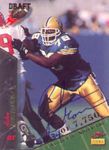 1995 Signature Rookies Ruben Brown Autograph Football Card #13