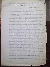 1966 AUTOGRAFO GENERALE AMORETTI SU DOC. COMANDO FORZE TERRESTRI ALLEATE VERONA