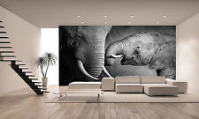 ELEPHANTS SHOWING AFFECTION Wall Mural Photo Wallpaper GIANT DECOR Paper Poster